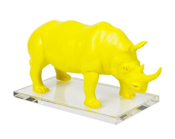 Zara Home Schweiz: Deko-Nashorn aus gelbem Kunststoff