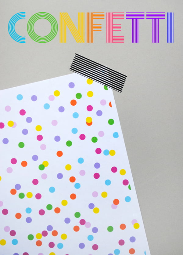 Confetti Paper Printable, Copyright Mini Eco