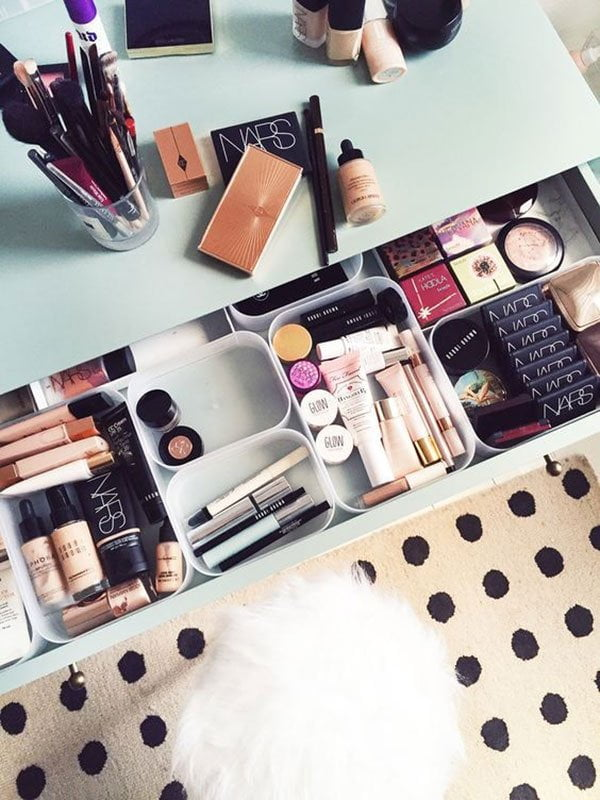 Make-Up Schublade: Inspo von Kate La Vie (Hey Pretty's besten Make-Up Aufbewahrungsideen)