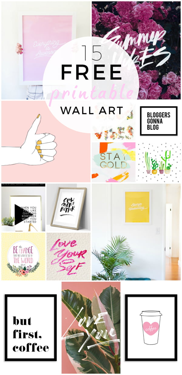 Free Printable Wall Art: Kunstdrucke zum gratis downloaden (Fat Mum Slim)