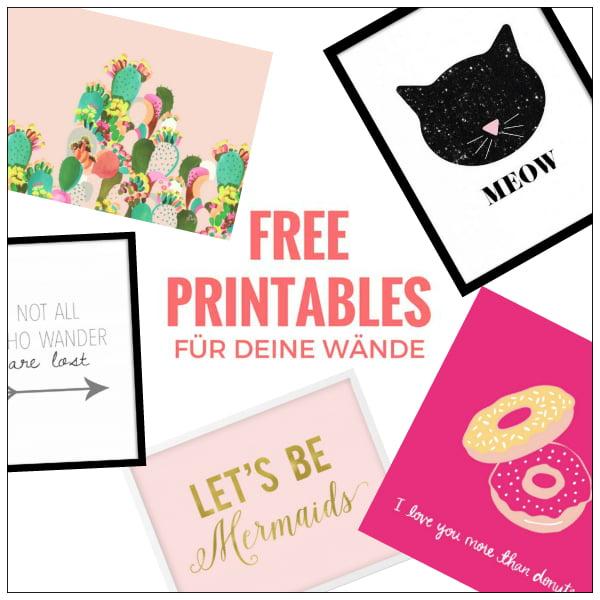 Free Printables: Kunst zum gratis Downloaden & ausdrucken (Hey Pretty)