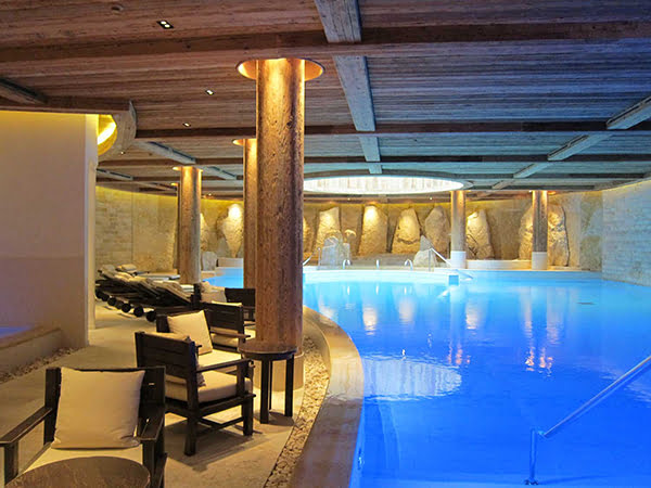 The Alpina Gstaad, Six Senses Spa indoor pool (Image copyright: Hey Pretty Beauty Blog)