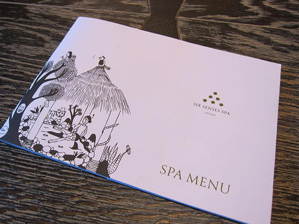 The Alpina Gstaad, spa menu (Image copyright: Hey Pretty Beauty Blog)