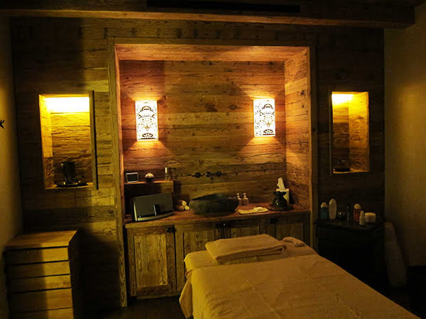 The Alpina Gstaad, treatment room (Image copyright: Hey Pretty Beauty Blog)