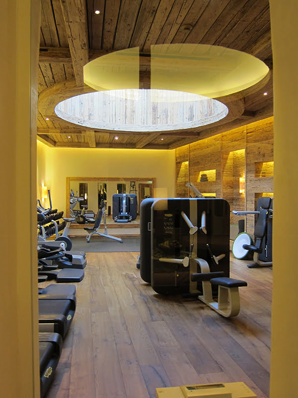 The Alpina Gstaad, gym Six Senses Spa (Image copyright: Hey Pretty Beauty Blog)