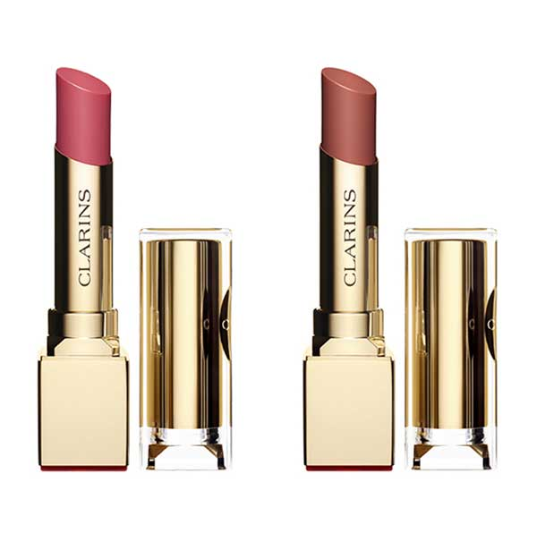 Clarins Spring Makeup 2016 Rouge Eclat in Pink Blossom and Rose Praline