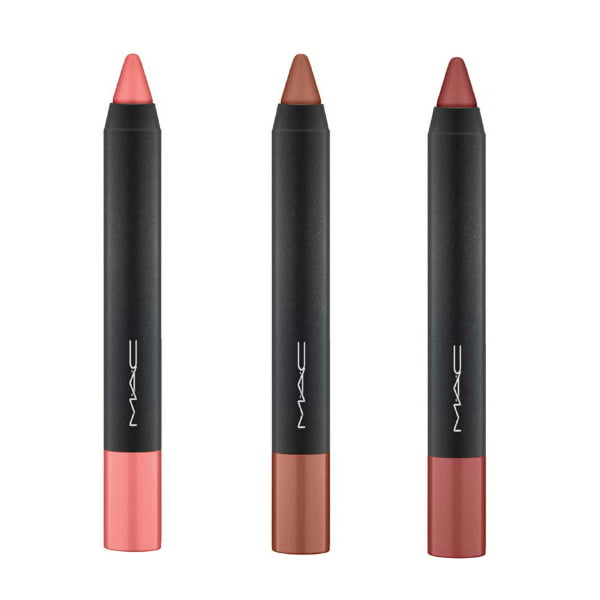 Mac Velvetease Lip Pencils in Frolic, Oh Honey and Aim to Please