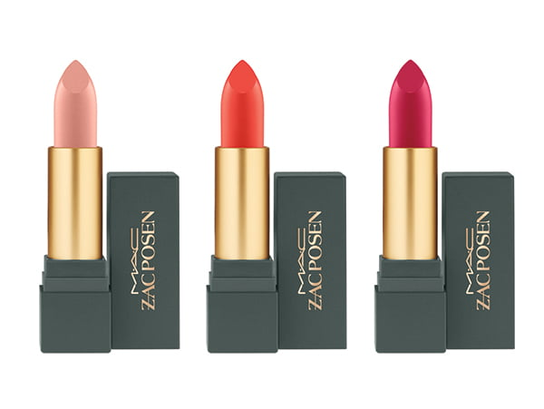 MAC Zac Posen Lipstick in Sheer Madness, Darling Clementine and Dangerously Red