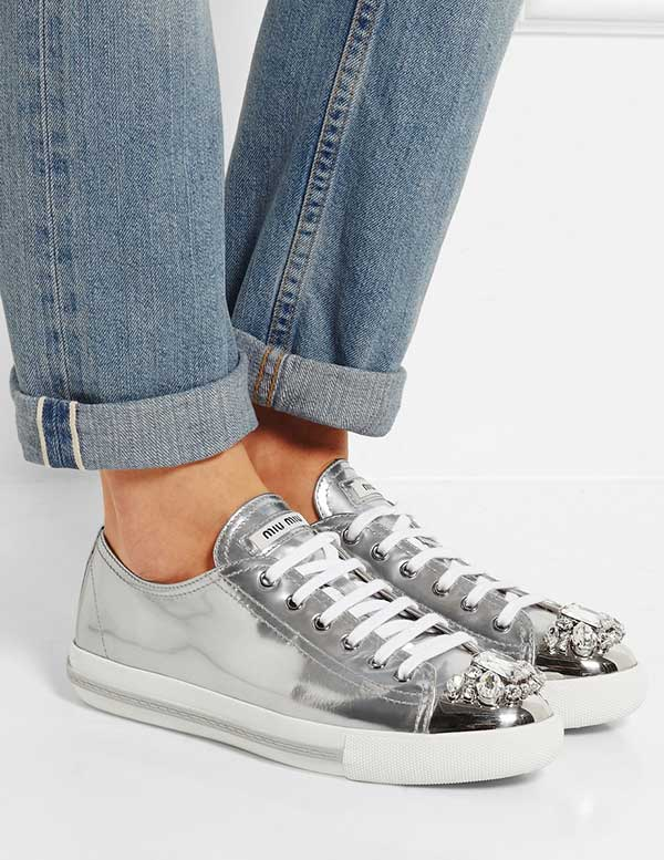 Miu Miu Sneakers with Crystals, Image by Net a Porter