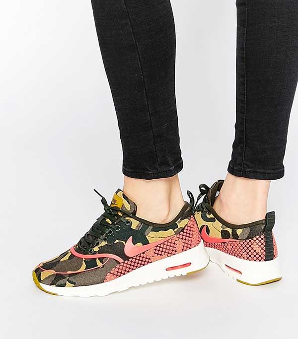 Nike Air Max Thea Camo Print Trainers, ASOS