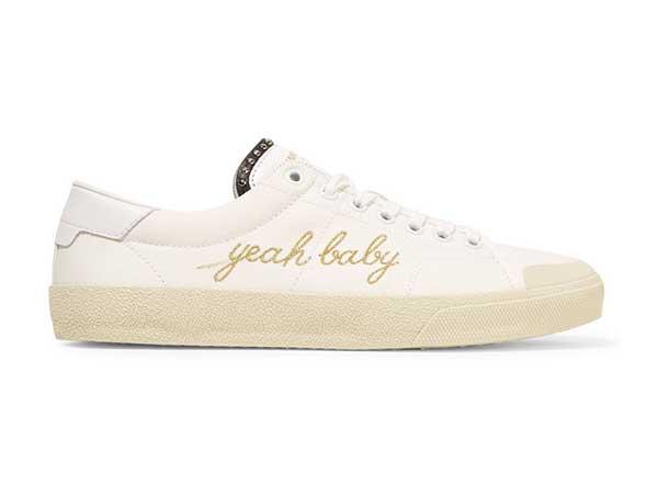 Saint Laurent Canvas Sneakers Yeah Baby