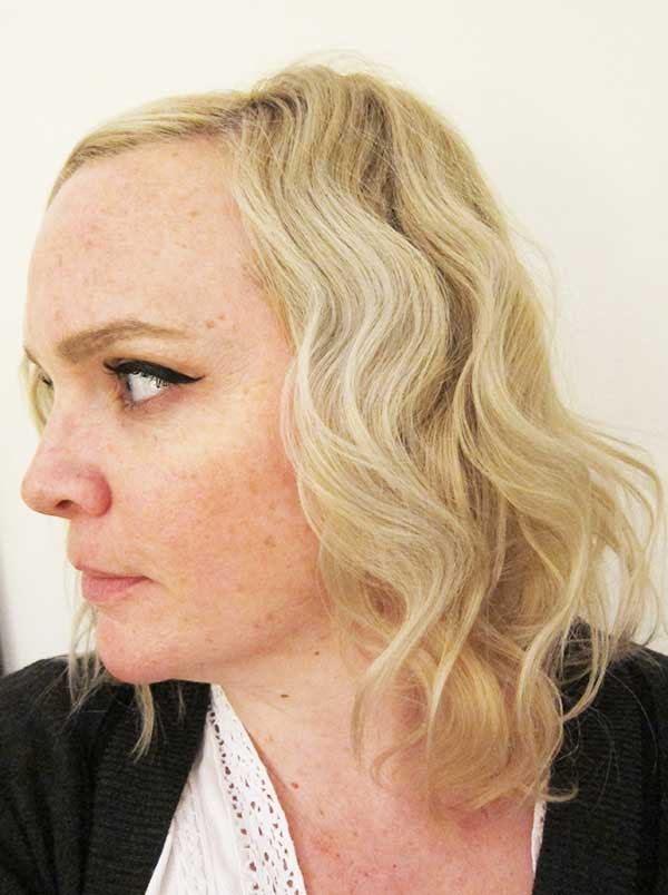 Tutorial Scandi Waves in Real Life, Image by Hey Pretty Beauty Blog