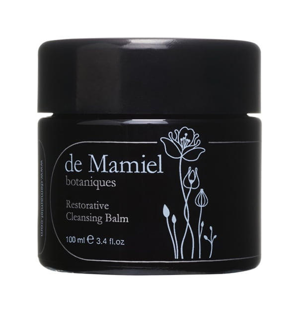 de Mamiel Restorative Cleansing Balm, available at Holistic Beauty Arosa