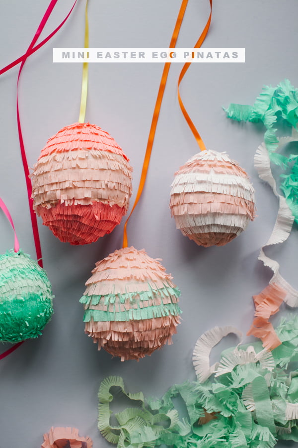 Easter Egg Pinatas by Oh Happy Day, Image copyright: Aubrey Trinnaman