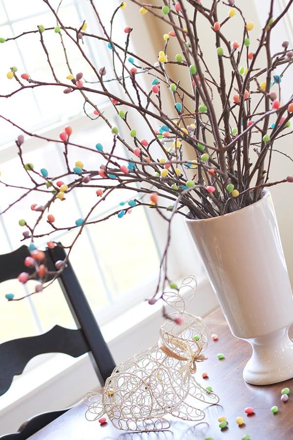 Jelly Bean Tree DIY, Image Copyright: Crafty Sisters