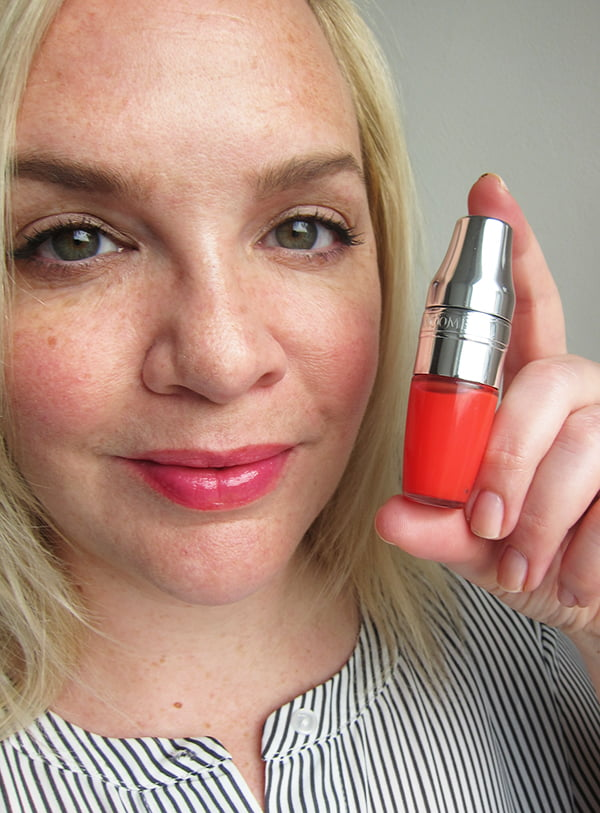 Lancome Juicy Shaker Swatch Meli-Melon, Image by Hey Pretty Beauty Blog