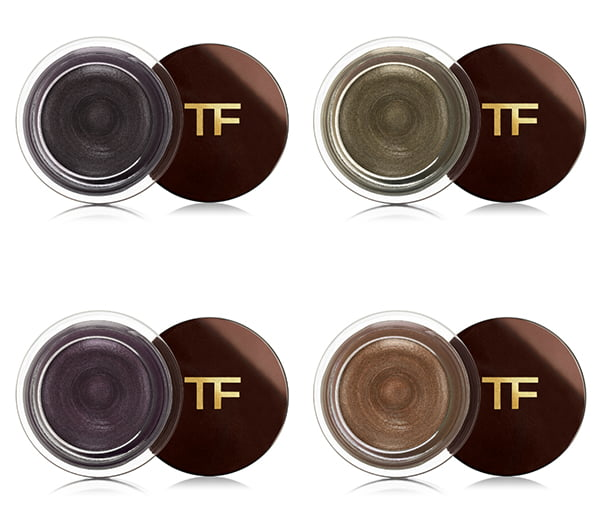 Tom Ford Cream Color for Eyes in Caviar, Burnished Copper, Midnight Violet and Spice
