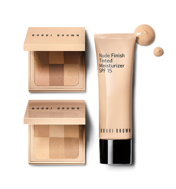 Bobbi Brown Nude Finish Tinted Moisturizer und Nude Finish Illuminating Powder