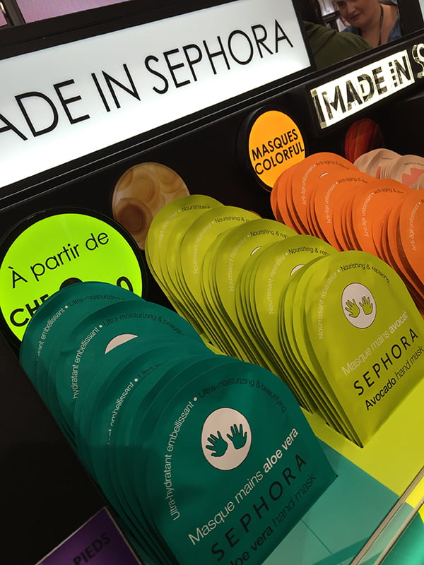 Made in Sephora Hand Masks, Sephora Store Opening bei Manor Genf, Image by Hey Pretty