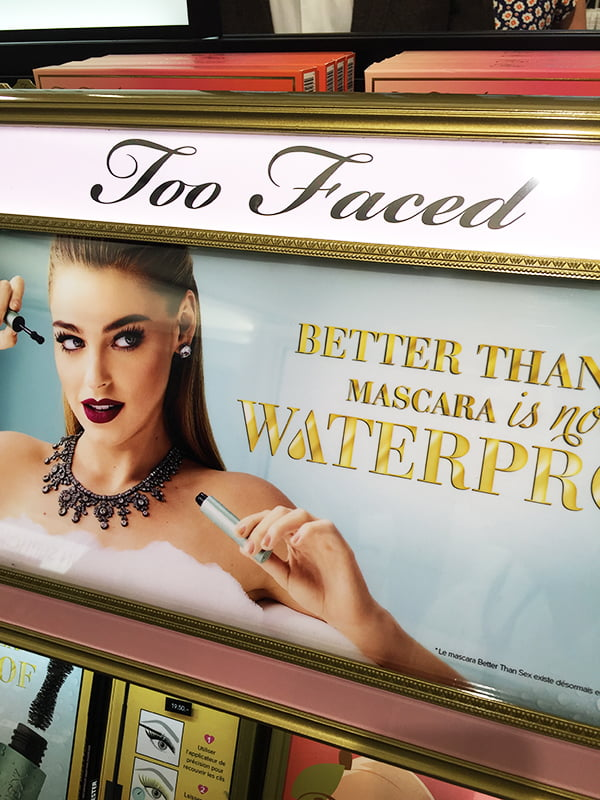 Too Faced Display, Sephora Store Opening bei Manor Genf, Image by Hey Pretty