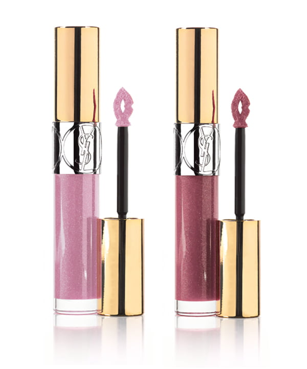 YSL Gloss Volupté in Rose Denim and Rose El Dorado
