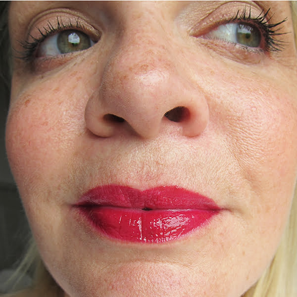 Revlon Ultra HD Lip Lacquer Review, Carnelian Swatch, Image by Hey Pretty Beauty Blog