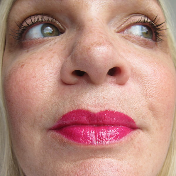 Revlon Ultra HD Lip Lacquer Review, Pink Ruby Swatch, Image by Hey Pretty Beauty Blog