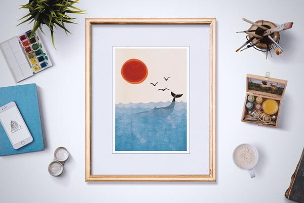 Dawanda Kunstdruck Out to Sea