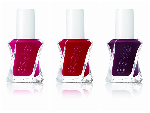 Essie Gel Couture: Drop the Gown, Bubbles Only and Model Clicks