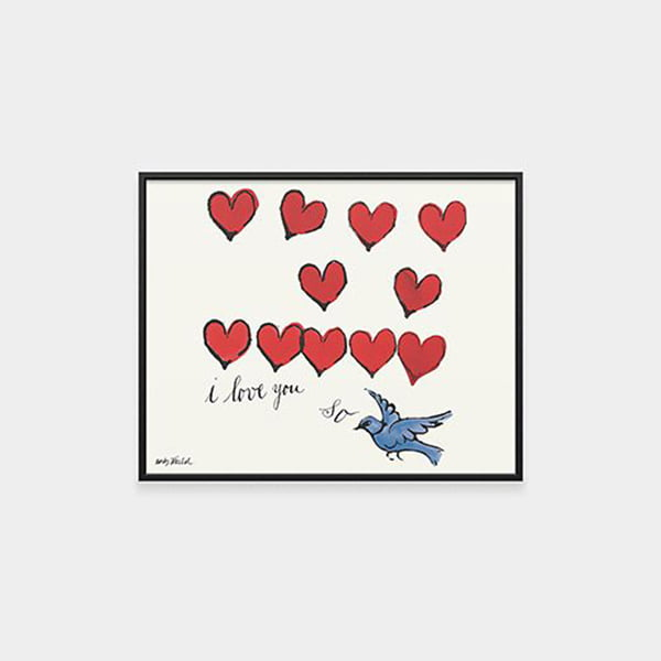Andy Warhol I Love You So, framed Print by MoMa Store