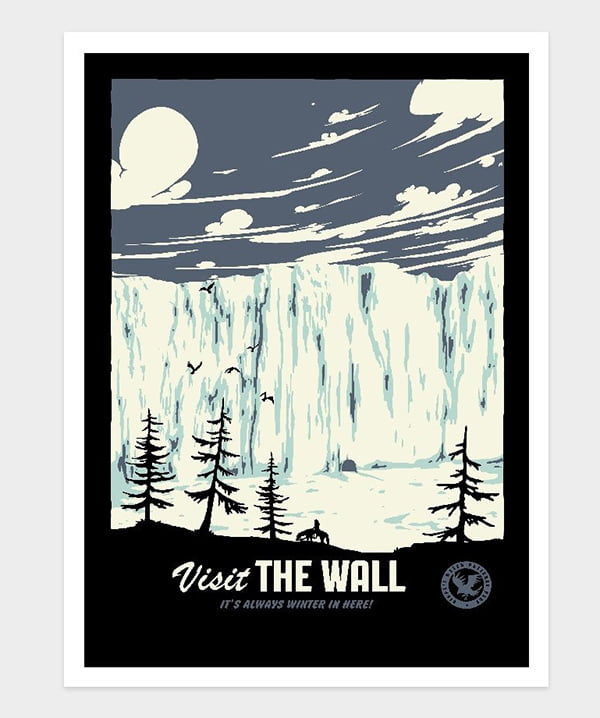 Visit the Wall by Mathiole, Image via Threadless