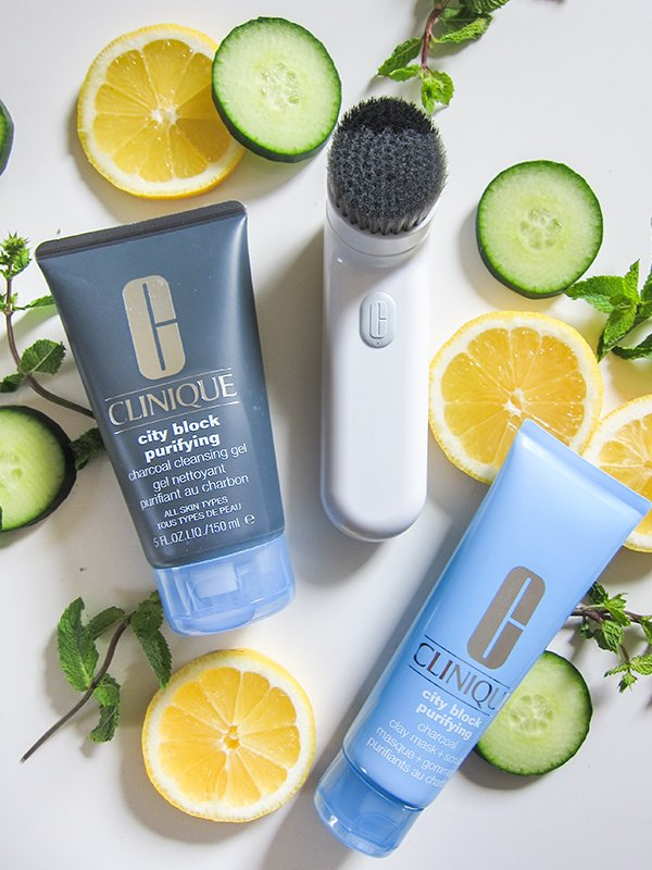 Clinique City Block Purifying Charcoal Cleansing System, Review & Image by Hey Pretty Beauty Blog