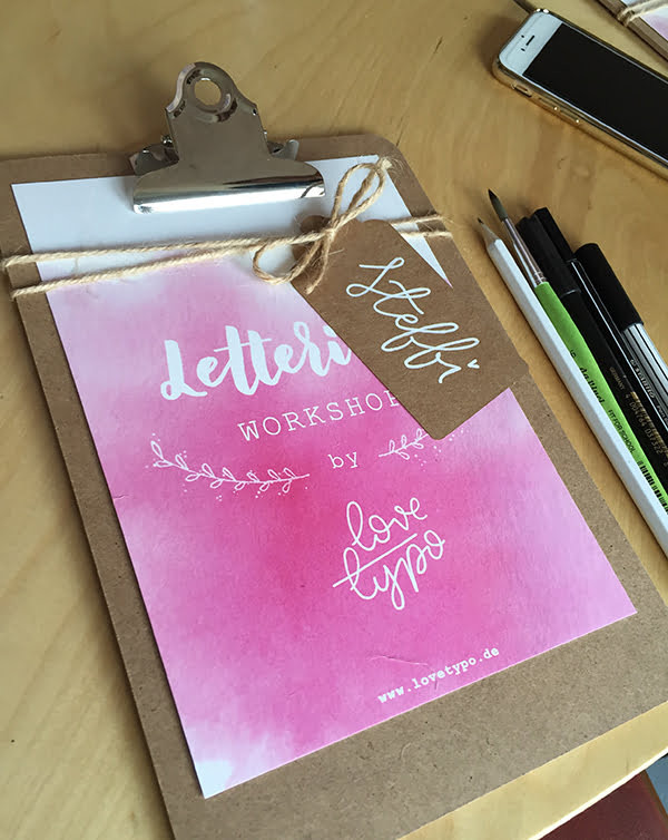 Lavera #handmate Event, Hand Lettering Workshop von Love Typo