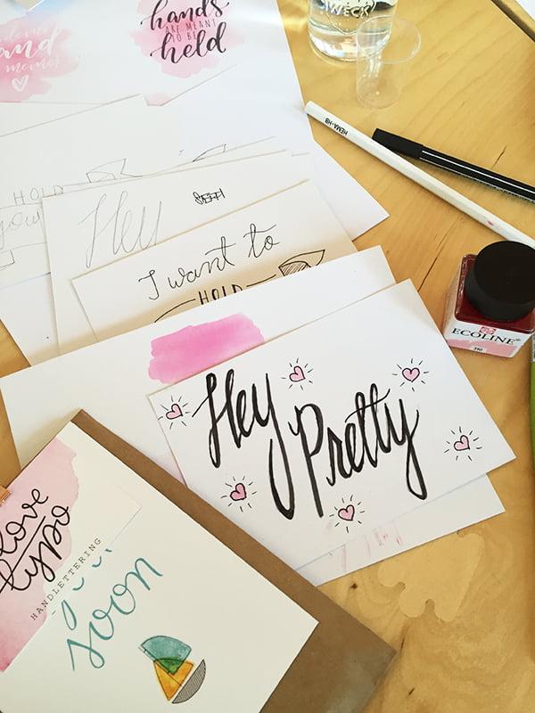 Lavera #handmate Event Hamburg: Hand Lettering Workshop mit Love Typo, Hey Pretty