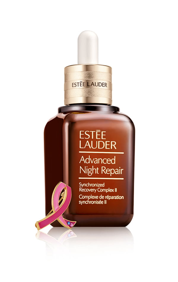 Estée Lauder Advanced Night Repair Synchronized Recovery Complex II mit Pink Ribbon Pin, #bca