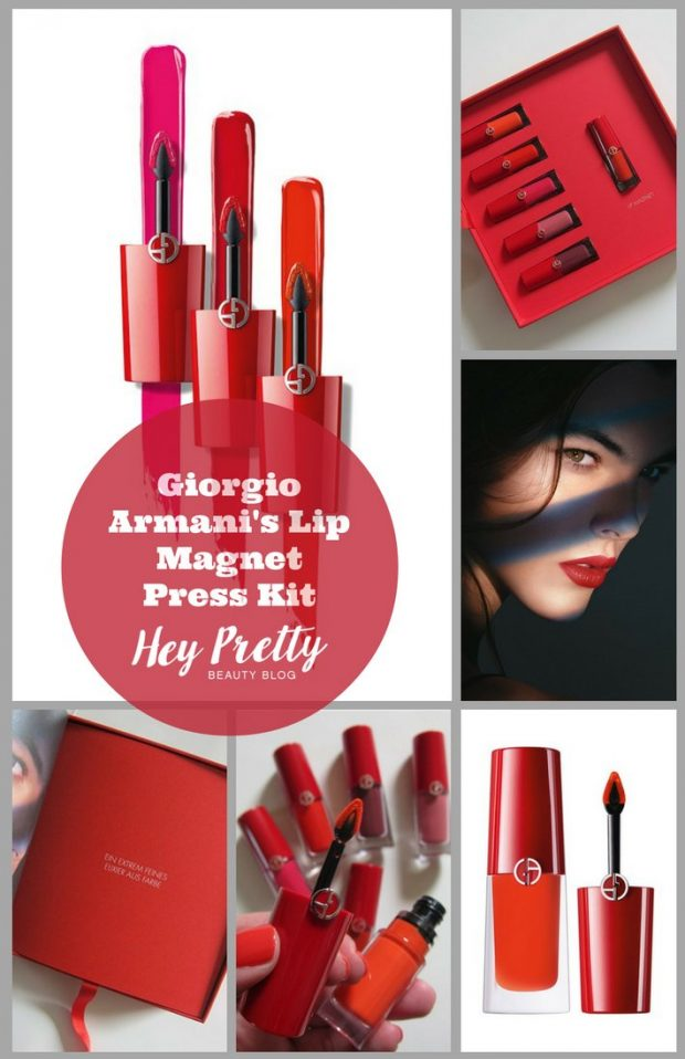 What's prettier? Armani's new Lip Magnets, or the press kit they were sent out in?