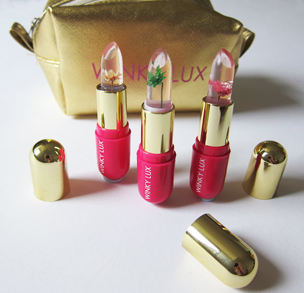 Winky Lux Flower Balm Lip Stain PH Jelly, ASOS exclusive set (Image by Hey Pretty Beauty Blog)