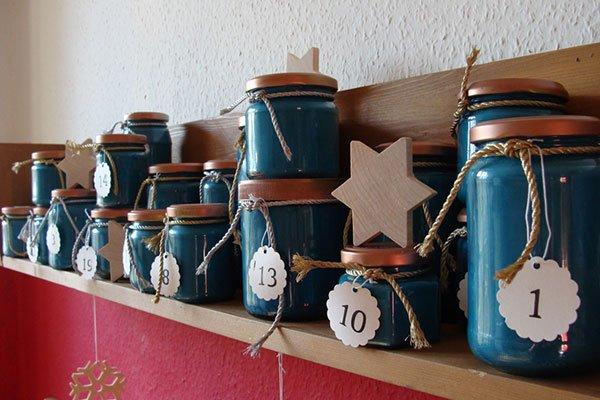Adventskalender DIY mit Vorratsgläsern, Image by Mareike Kühn, Casa Colorata