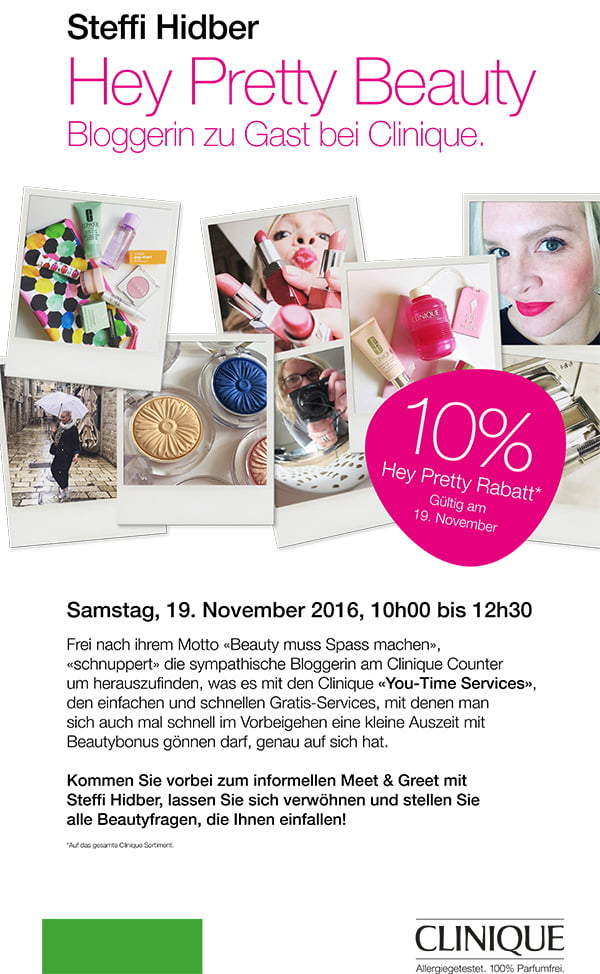 Hey Pretty Clinique You-Time Services Event