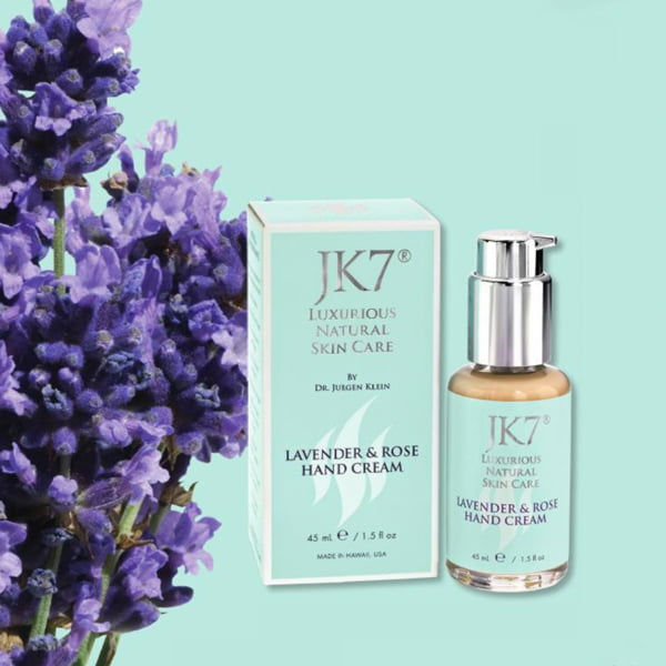 JK7 Luxurious Natural Skincare, Facial Treatment Review, Product Image Lavender & Rose Hand Cream