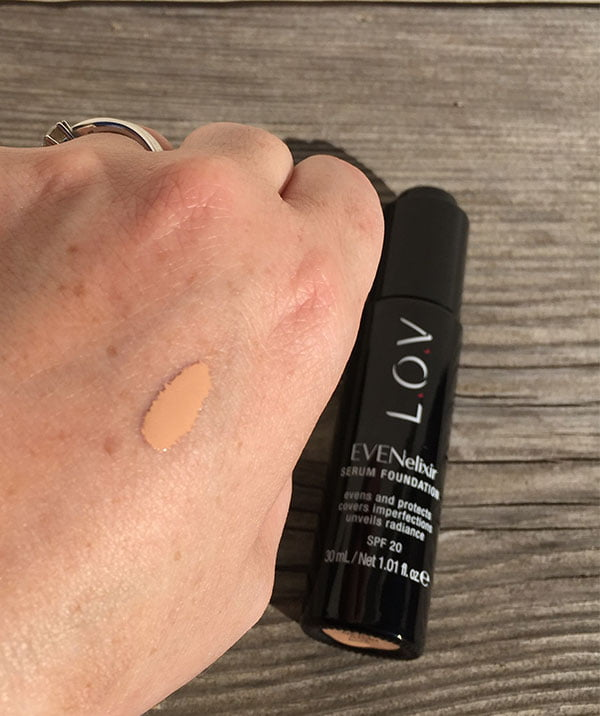 L.O.V. Evenelexir Serum Foundation, Image and Review by Hey Pretty Beauty Blog