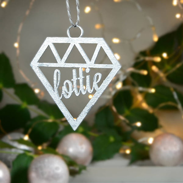Personalised Geometric Bauble by Contempo Home