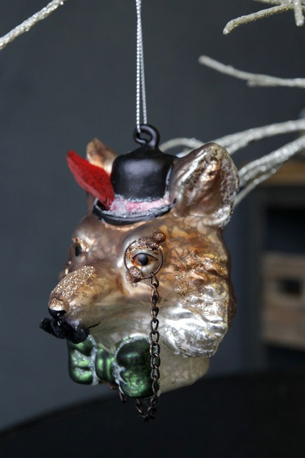 Baumschmuck Special: Fuchs Glaskugel von Rockett St. George