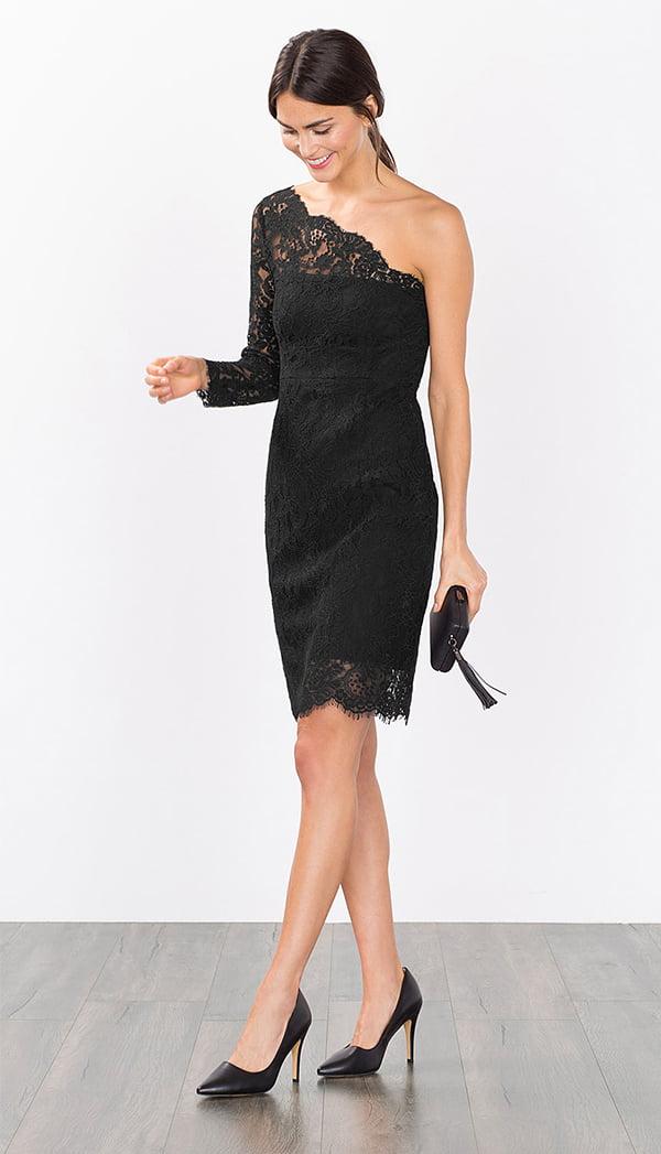 Esprit One-Shoulder Kleid aus Spitze