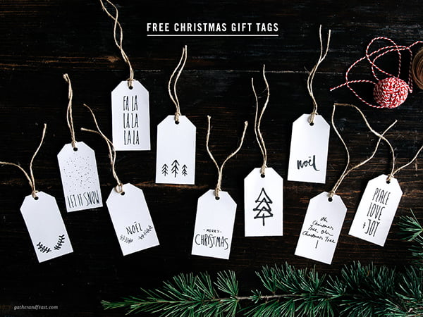 Zum Ausdrucken: Weihnachten Geschenketiketten von Gather & Feast