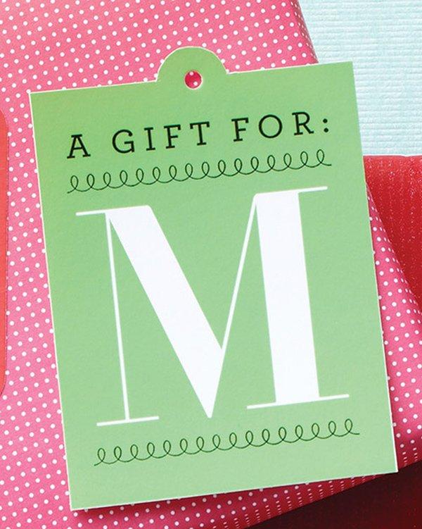 Geschenk Etikette personalisiert, Hey Pretty Free Printables
