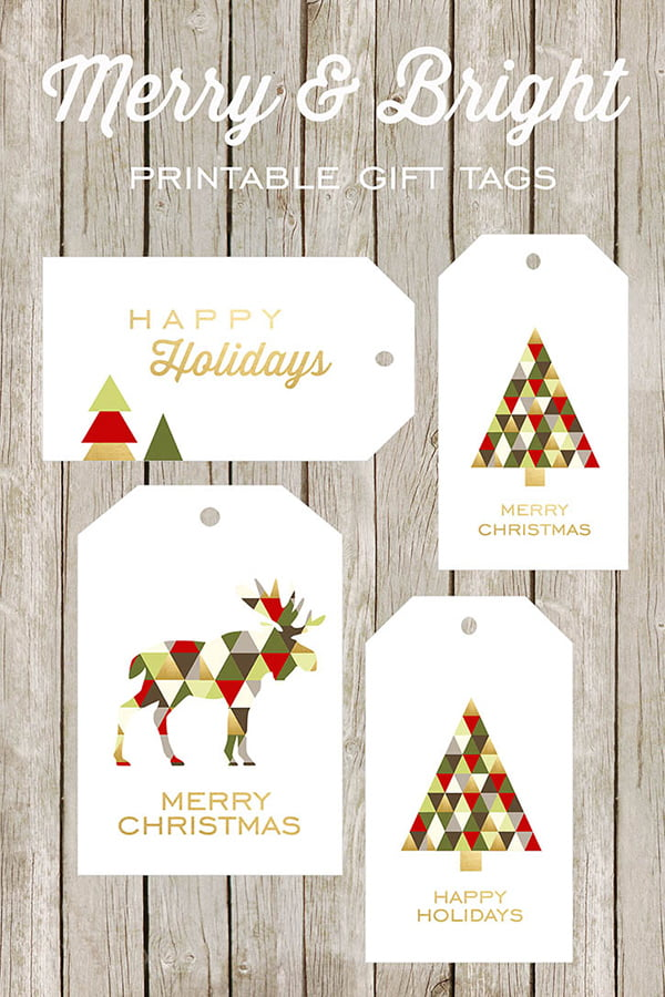 Holiday Gift Tags, Free Printables