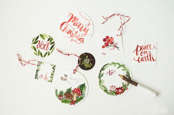 Geschenketiketten Weihnachten zum Ausdrucken