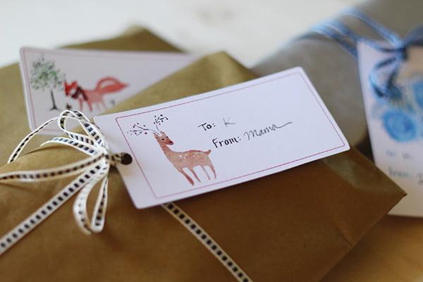 Geschenk Etiketten Weihnachten zum Ausdrucken