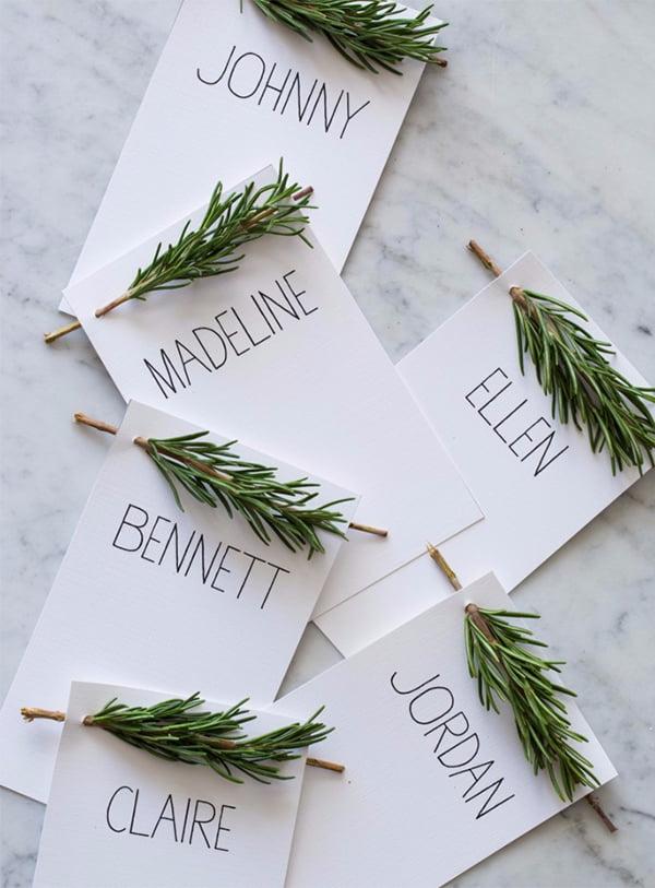 Weihnachts-Deko zum Selbermachen, Tischkarten